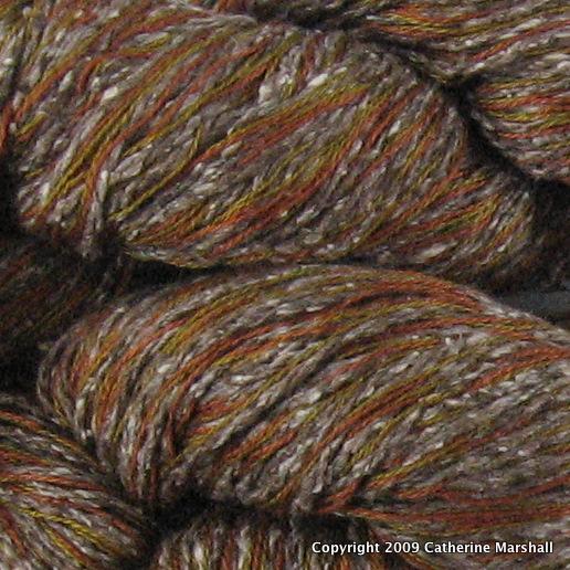 close-up of yarn